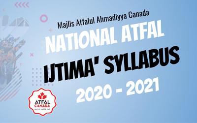 National Atfal Ijtima' Syllabus